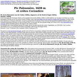 Pic Paloumère Aube Balade Randonnée Pyrénées