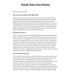 Paltalk Video Chat Website