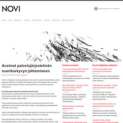 Novi tietojohtaminen tutkimuskeskus – Tampere University of Technology