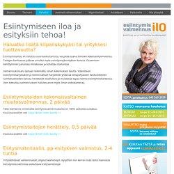 Esiintymisvalmennus ILO