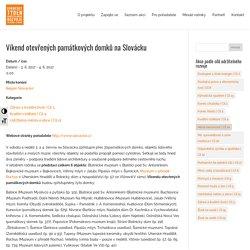 Víkend otevřených památkových domků na Slovácku