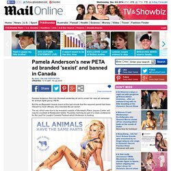 Pamela Anderson PETA advert banned in Canada