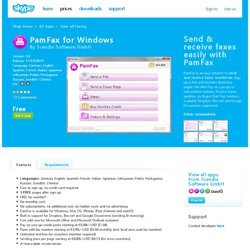 Pamfax for Skype Business Edition | Extras - Skype