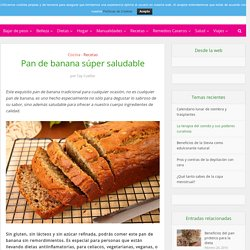 Pan de banana súper saludable