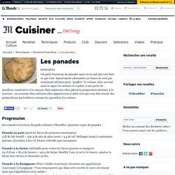 Les panades (au pain, à la farine, à la frangipane, etc.)