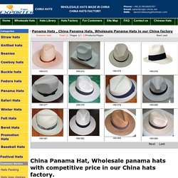 Wholesale Panama Hats in our China factory