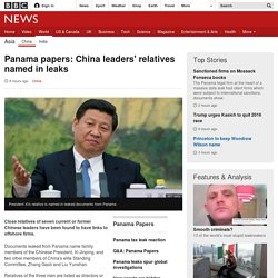 Panama papers: China leaders' relatives named in leaks
