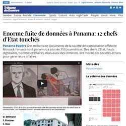Panama Papers: Enorme fuite de données à Panama: 12 chefs d'Etat touchés