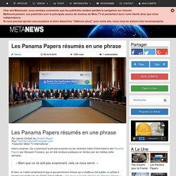 Les Panama Papers résumés en une phrase