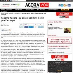 Panama Papers : ça sent quand même un peu l'arnaque
