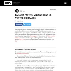 Panama papers: voyage dans le ventre du dragon