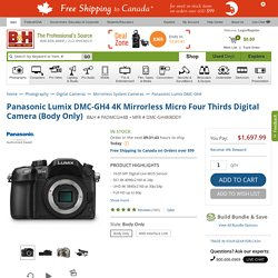 Panasonic Lumix DMC-GH4 Mirrorless Micro Four Thirds, GH4KBODY Digital Camera.