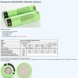 Test of Panasonic NCR18650B 3400mAh (Green)