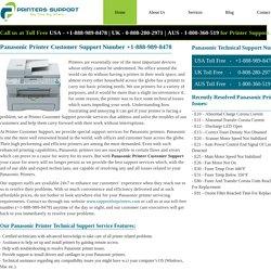 Panasonic Printer Customer Support Number +1-888-989-8478