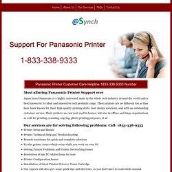 Panasonic Printer Support/Help 1833-338-9333 Service Number
