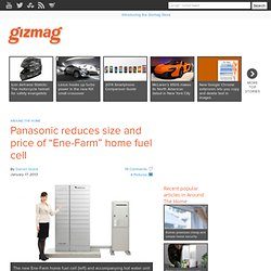 "Panasonic reduces size and price of ""Ene-Farm"" home fuel cell"