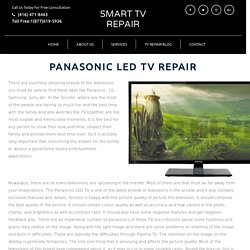 Panasonic and Sony TV Repairs Toronto