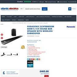 Panasonic SCHTB885EBK 500W 5.1ch Sound Bar Speaker With Wireless Subwoofer