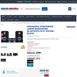 Panasonic SCMAX4000E 2400W Megasound Bluetooth Hi-Fi System - Black