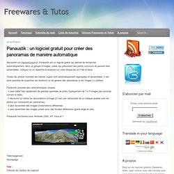 un logiciel gratuit pour créer des panoramas de manière automatique