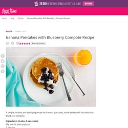 Banana Pancakes with Blueberry Compote Recipe – Kayla Itsines