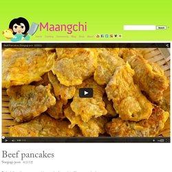 Beef Pancakes (Soegogi-jeon) recipe
