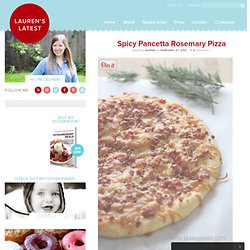 Spicy Pancetta Rosemary Pizza