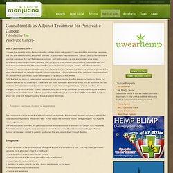 Medical Marijuana Pancreatic Cancer Treatments