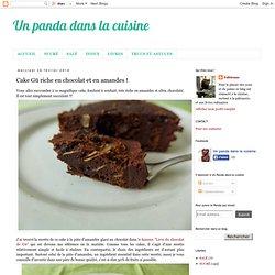 Cake Gü riche en chocolat et en amandes !