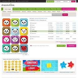 Panda Bear Flat Emotions Icons Set. Stock Vector - Image: 39480842