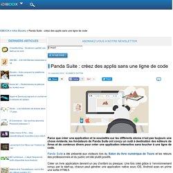 Panda Suite : créez des applis sans une ligne de code