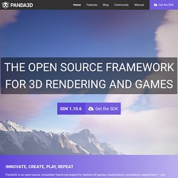 Panda3D - Free 3D Game Engine