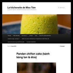 Pandan chiffon cake (bánh bông lan lá đứa) - La kitchenette de Miss TâmLa kitchenette de Miss Tâm