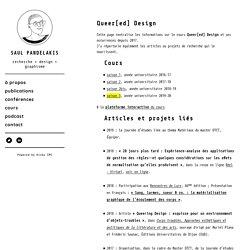 Saul Pandelakis - Design & Cinema - Queer[ed] Design