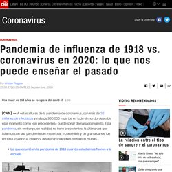Pandemia de influenza de 1918 vs. coronavirus 2020
