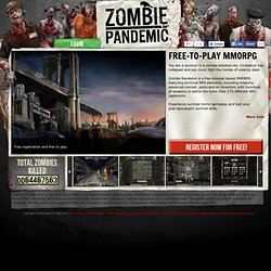 Zombie Pandemic a free pbbg MMORPG survival horror game