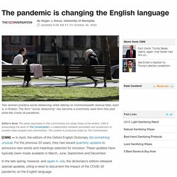 The pandemic is changing the English language