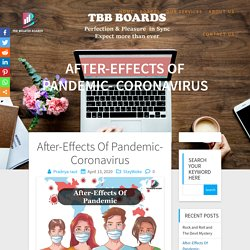 After-Effects Of Pandemic- Coronavirus