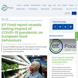 EIT_EUROPA_EU 03/12/20 EIT Food report reveals the impact of COVID-19 pandemic on European food behaviours
