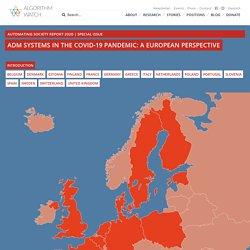 ADM Systems in the COVID-19 Pandemic: A European Perspective