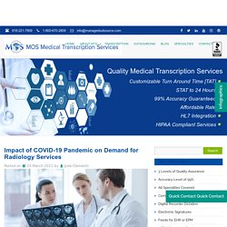 Impact of COVID-19 Pandemic on Demand for Radiology Services