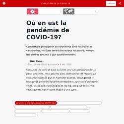 Où en est la pandémie de COVID-19?