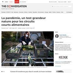 WORLD ECONOMIC FORUM 20/01/21 La pandémie, un test grandeur nature pour les circuits courts alimentaires