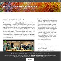 Panser la Pandémie (partie 2) – Politiques des sciences