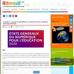 L'An@é : Ce que la pandémie a révélé de notre système éducatif #EGNE