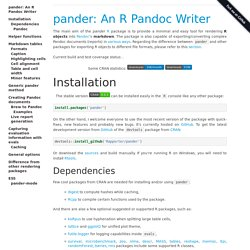 pander: A Pandoc writer in R