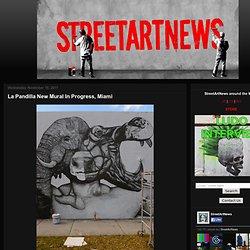 La Pandilla New Mural In Progress, Miami Your Ultimate Street Art News Site