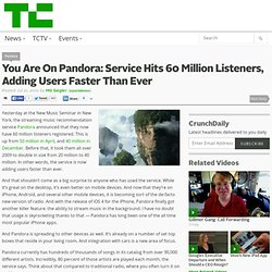 You Are On Pandora: Service Hits 60 Million Listeners, Adding Users Faster Than Ever