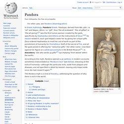 Pandora (mythe d'Eve)