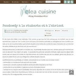 Pandowdy à la rhubarbe et à l'abricot